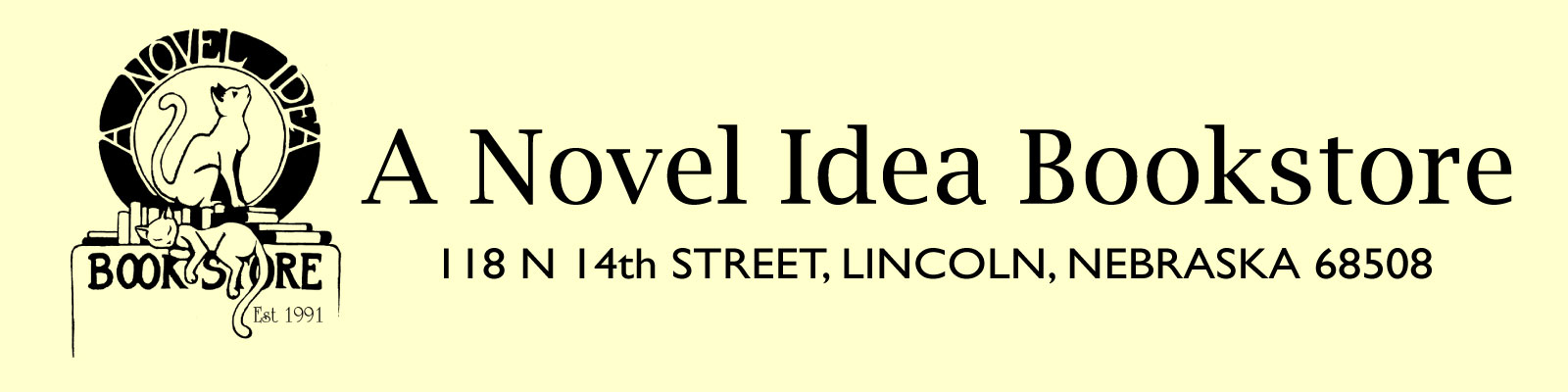 A Novel Idea Bookstore Logo